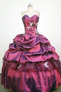 Steinhausen Switzerland Sweetheart Applique Pick Up Quinceanera Dress