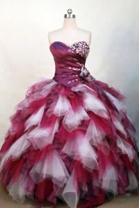 Colorful Beaded Sweetheart Ruffles Sweet Sixteen Quinceanera Dresses
