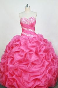 Rose Pink Sweetheart Beading Quince Dresses in Schuders Switzerland