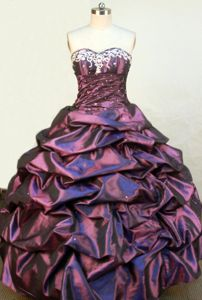 Embroidery Sweetheart Taffeta Pontresina Switzerland Quinceanera Dress