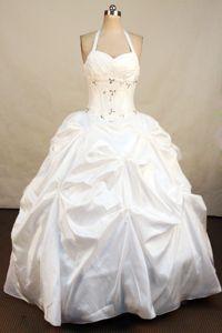 Halter Top Beading Applique Oensingen Switzerland Quinceaneras Gown