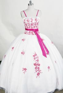 Bowknot Sash Strap Applique Montana Switzerland Sweet Sixteen Dress