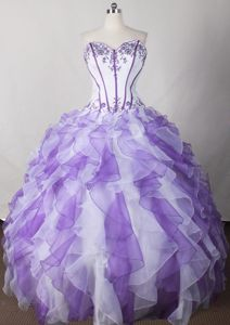 Multi-color Strapless Applique Organza Horw Switzerland Sweet 15 Dress