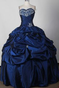 Navy Blue Sweetheart Quinceanera Gowns in Grindelwald Switzerland