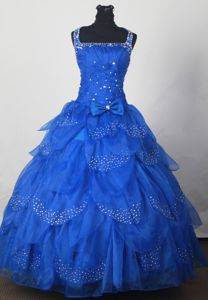 Bowknot Bead Straps Layers Sweet Sixteen Dress in Geneva Switzerland
