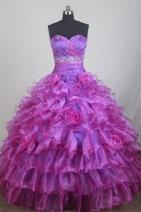 Flower Sweetheart Ruffled Bead Dietikon Switzerland Sweet Sixteen Dress