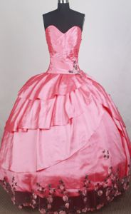 Dress For Quinceanera in Balerna Switzerland Has Sweetheart and Appliques