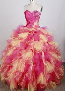 Colorful Sweetheart Beads Dress For Quinceanera in Begnins Switzerland