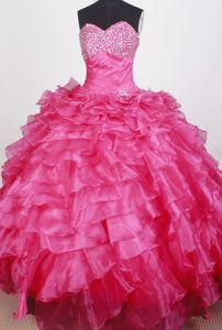 Basel Switzerland Sweetheart Beading Ruched Layers Quinceanera Dress