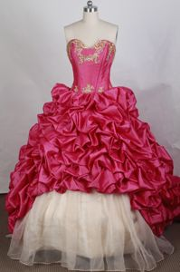 Sweetheart Appliques Sweep Train Sweet Sixteen Quinceanera Dresses in Arab