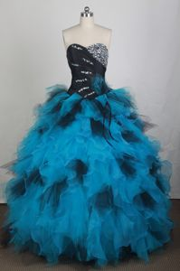 Exquisite Sweetheart Ruffled Dress For Quinceanera in Ashford with Beadings