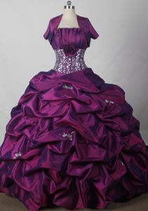 2012 Affordable Pick-ups and flowers Strapless Quinceanera Gown in Beatrice