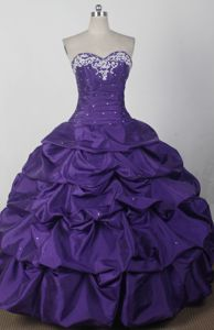 2012 Beautiful Ball Gown Sweetheart Quinceaneras Dress in Boaz with Pick-ups
