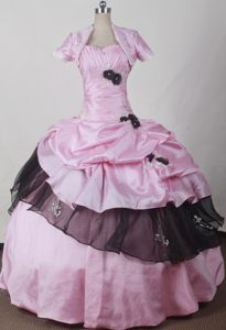 Romantic Sweetheart Pink 2013 Dress for Quince in Brookwood with Flowers