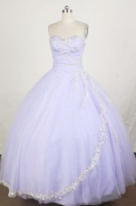 Custom Made Appliqued Lilac Ball Gown Quince Dresses under 200