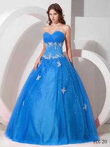 Ruching Sequins and Appliques Decorated Quinceanera Dresses in Schofield