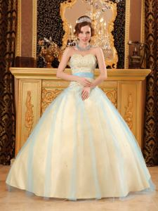 Champagne Puffy Quinceanera Gowns with Beaded Bodice near Algoma WI