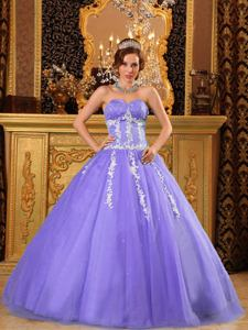 Appliques and Sequins Decorated Ball Gown Quinceanera Gown for Woman