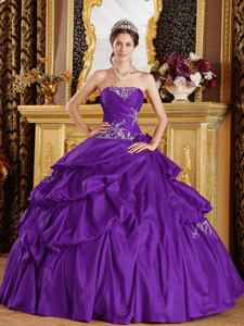 Embroidery Beaded and Ruched Quince Dresses with Flowers in Bellingham