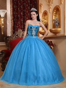 Popular Sequined Sweetheart Tulle Quinceanera Dress Full-length in Beaumont