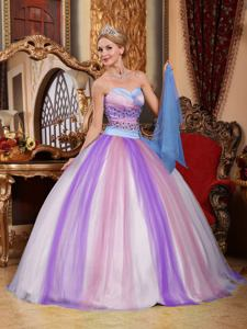 Simple Sweetheart Multi-color Full-length Beading Quinceanera Dress in Charleston