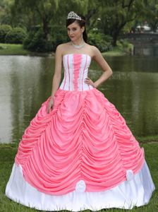 Watermelon Strapless Ball Gown Sweet Sixteen Dresses Pick-ups in Peabody