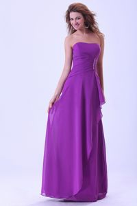 Zipper-up Strapless Floor-length Damas Dresses For Quinceanera in Purple