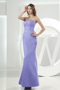 Modest Mermaid Sweetheart Ankle-length Quinceanera Dama Dress in Lilac