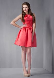 Lovely Scoop Low Back Red Mini-length Dama Quinceanera Dress in Elmira