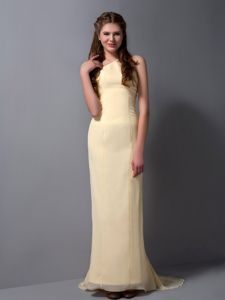 Wholesale Champagne Halter Brush Train Quinceanera Dama Dress in Albany