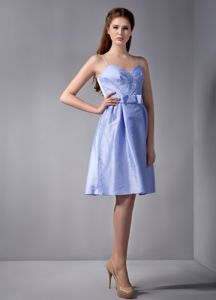 Low Price Lilac Knee-length Dress For Damas with Spaghetti Straps in Easton