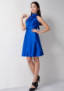 Hot Sale High-neck Backless Mini-length Prom Dresses For Dama in Deerfield