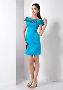Low Price Off The Shoulder Teal Mini-length Party Damas Dresses in Venice