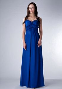 Royal Blue Floor-length Quince Dama Dresses with Spaghetti Straps in Dover