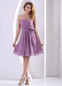 2013 Fast Shipping Chiffon Light Purple Short Dresses for Damas under 100