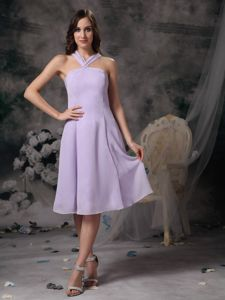 Lilac V-neck Chiffon Mini-length 15 Dresses For Damas in Gig Harbor WA