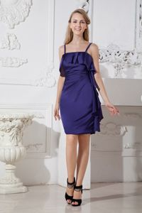 Purple Mini-length Dresses For Damas with Spaghetti Straps in Bremerton WA