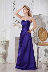 Purple Sweetheart Floor-length Dama Dresses with Hand Flowers in Spokane
