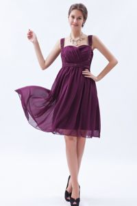 Dark Purple Straps Beading Dama Dress For Quinceanera in Iquique Chile