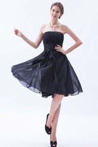 Strapless A-line Bow Brown Dama Dress For Quinceanera in Funza Colombia