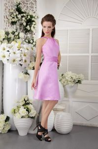 San Juan de Pasto Colombia Lavender High-neck Dama Dress For Quinceanera