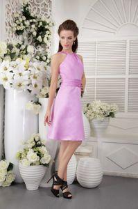 San Juan de Pasto Colombia Lavender High-neck Dama Dress For Quinceanera