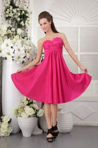 Strapless Hot Pink Empire Dama Dress For Quinceanera in Soacha Colombia