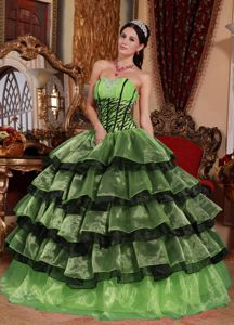 Multi-color Sweetheart Quinceanera Gowns in Floor-length with Ruffles