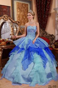 Sweetheart Princess Multi-color Dress for Quince with Appliques in Boaz