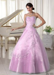 Uptown Baby Pink Quinces Dresses with Beading in San Juan Argentina