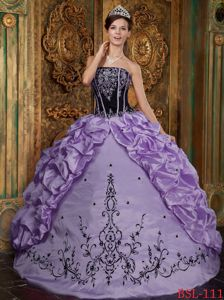 Black and Lavender Quinceanera Dress with Embroidery in Rosario Argentina