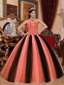 Multi-colored Sweetheart Tulle with Beading Quinceanera Dress in Dublin