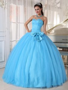 Best Sweetheart Beaded Tulle Quinceanera Dresses in Aqua Blue in Dublin