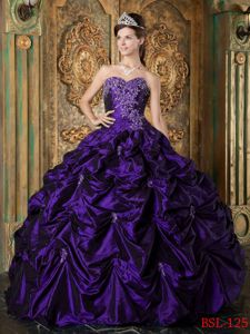 Cheap Appliques and Pick Ups Quince Dresses in Purple near Summersville